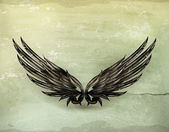 Wings black old-style vector — Stockvector
