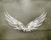 Wings white old-style vector — Vector de stock
