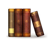 Books, old-style vector isolated — Stock Vector