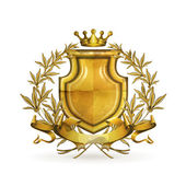 Coat of arms, old-style vector isolated — Vettoriale Stock
