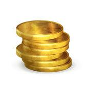 Stapel von gold-münzen, alten stil vektor isoliert — Stockvektor