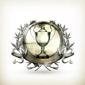 Emblem silver, gammal stil vektor isolerade — Stockvektor
