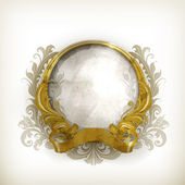 Gold Luxury Frame, old-style vector isolated — Vector de stock