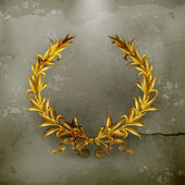 豊富な黄金の花輪、古いスタイルのベクトル — ストックベクタ