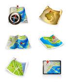 Conjunto de mapas — Vector de stock