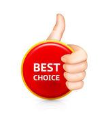 Best choice, vector — Stock Vector