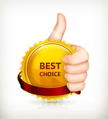 Best choice, vector — Stock Vector