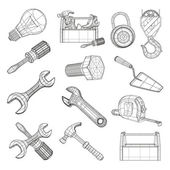 Drawing tools set, vector — Stock Vector
