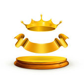 Golden crown, vector — Stock Vector