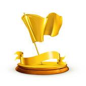 Gold Flag, vector — Stock Vector