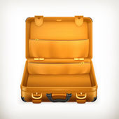 Open Suitcase, vector — Stock Vector