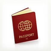 Passport, vector — Stock Vector
