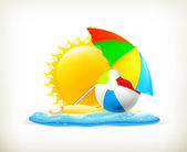 Summer icon, vector — Stock Vector