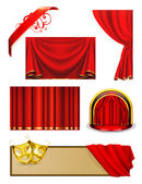 Theater, vector set — Stock Vector