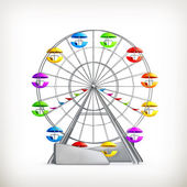 Roda gigante, vector — Vetorial Stock