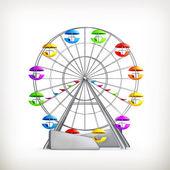 Ferris wheel, vector — Stock Vector