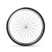 Bicycle wheel, vector — Vecteur