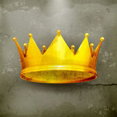 Crown, old-style vector — Vector de stock