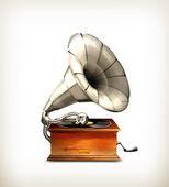 Grammophon, vektor — Stockvektor