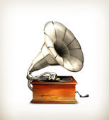 Gramophone, vector — Stock Vector