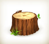 Tree stump, vector — Stock Vector