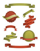 Ročník pásky a štítky, vektorové — Stock vektor
