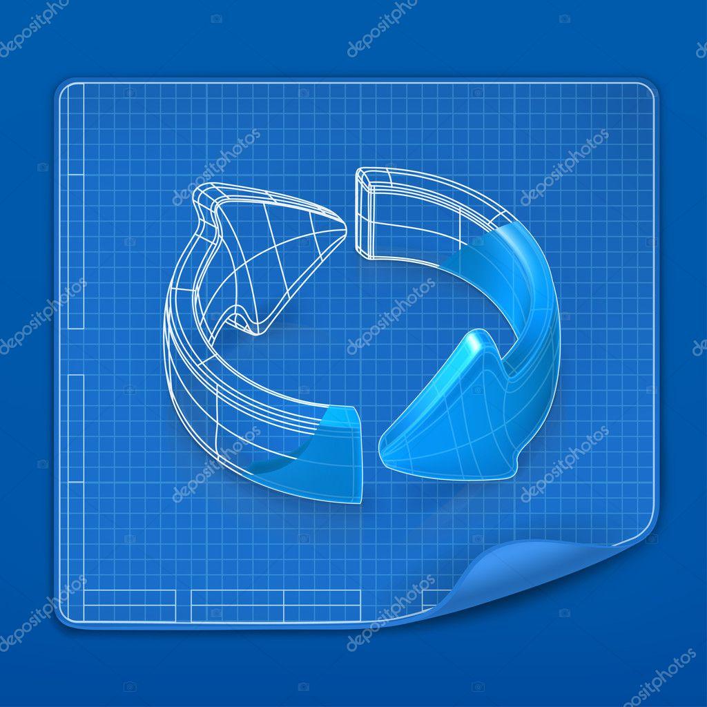 Blueprint Vector Drawings Drawing Arrow Blueprint