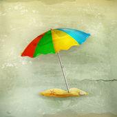 пляжный зонтик, старый стиль — Cтоковый вектор