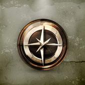Kompass, gammal stil — Stockvektor