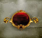 Rama czerwony, starym stylu — Wektor stockowy