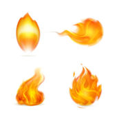 Flame, icon — Stock Vector