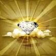Diamond, old-style background - Vettoriali Stock