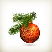 Bola de navidad — Vector de stock