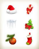 рождественский набор — Cтоковый вектор
