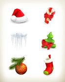 Christmas set — Stockvector