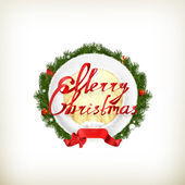 Emblema de navidad feliz — Vector de stock