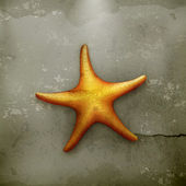 Starfish, old-style — Stock Vector