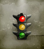 Traffic Lights, old-style — Stock Vector
