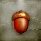 Acorn, old-style — Vector de stock