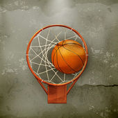 Basketball icon, old-style — Stock Vector