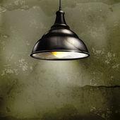 Czarna lampa, starym stylu — Wektor stockowy