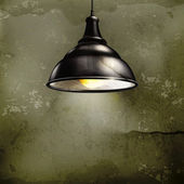 černá lampa, starobylé — Stock vektor