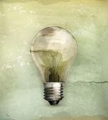 Lightbulb, old-style — Stock Vector