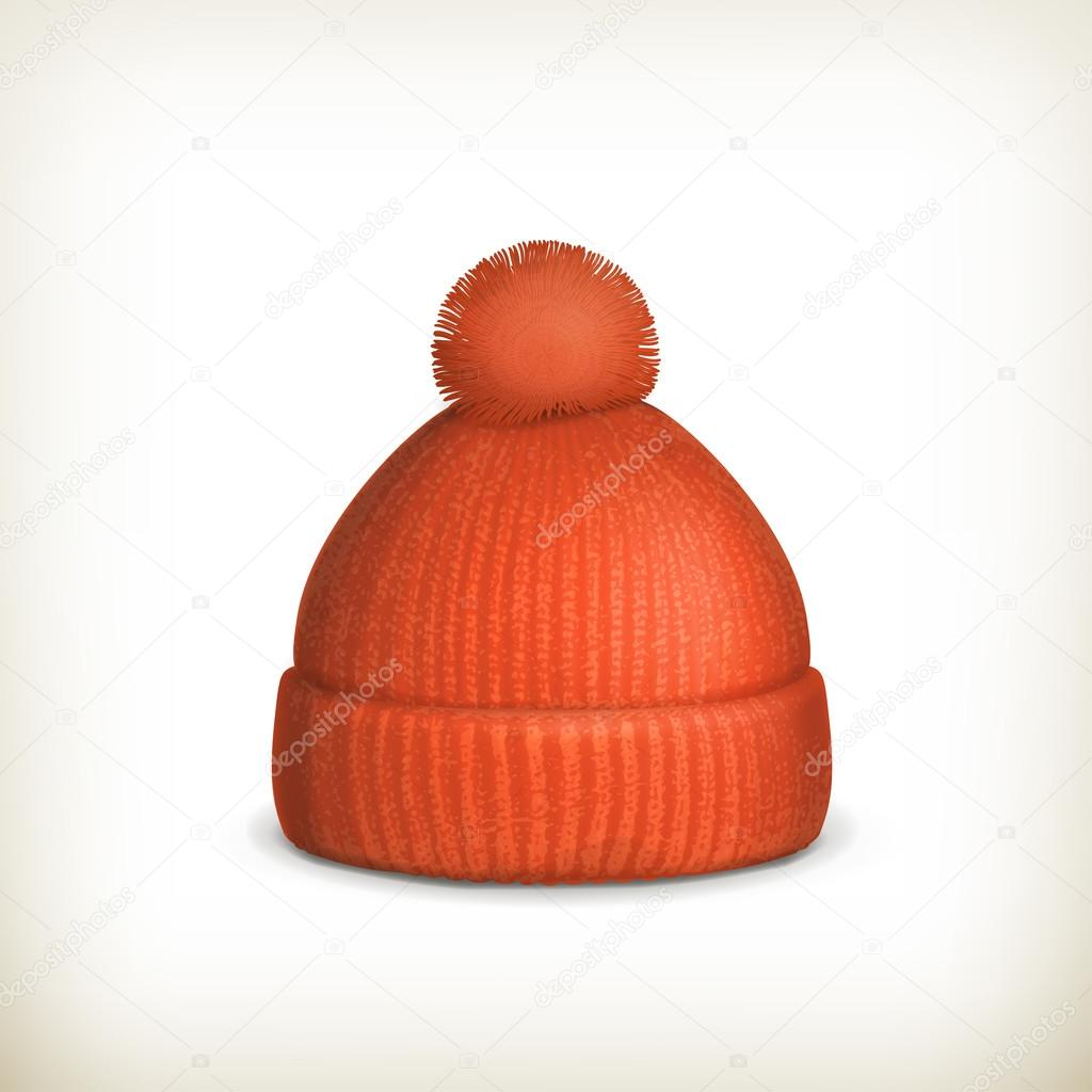 Knitted red cap — Stock Vector #16241161