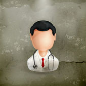Doctor, old-style vector icon — Vector de stock