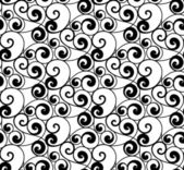 黑色无缝模式,矢量剪影 — 图库矢量图片