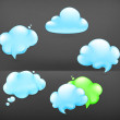 Clouds, vector — Stock Vector