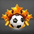 Soccer Emblem, vector - Stockvectorbeeld