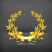 Gold wreath, vector — Stock Vector