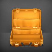 Open Suitcase, vector — Stock Vector